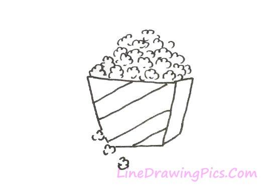 ポップコーンのイラストの簡単な描き方 簡単な絵の描き方